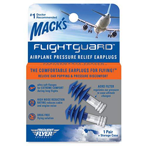 Mack's Flightguard ear plugs for flying